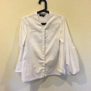 Style Mafia white balloon sleeve top
